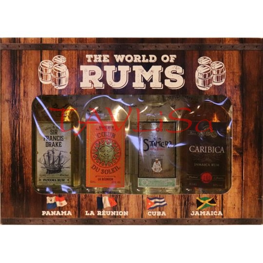 Sada The World of Rums 40ml x 4ks miniatur