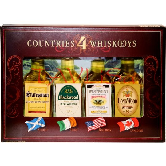 Whisky Sada Countries 4 Whisk(e)ys 40% 40ml x 4ks
