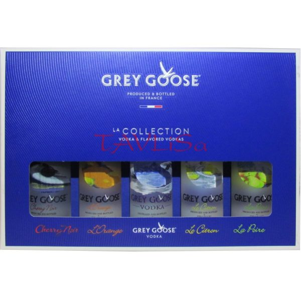 Vodka Collection Grey Goose 40% 50ml x5 miniatura