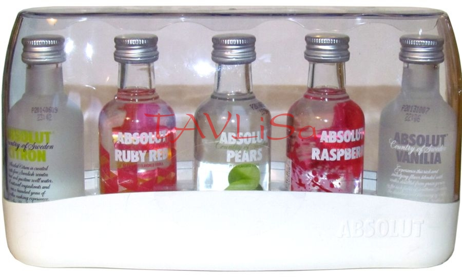 Vodka Absolut Sada Box 40% 50ml x5ks miniatur