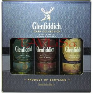 Whisky Glenfiddich Cask Collection Sada 3ks mini
